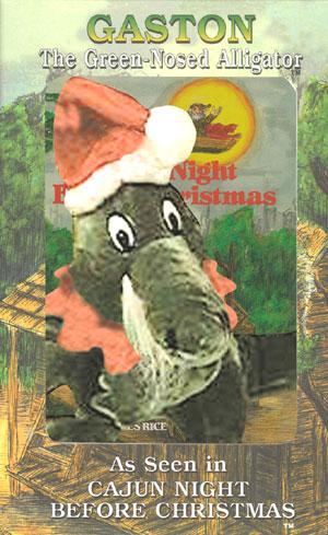 gaston santa claus plush toy boxed with cajun night before christmas - Cajun Night Before Christmas